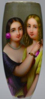 Zwei Schwestern, Porzellanmalerei, Pfeifenkopf, D1919