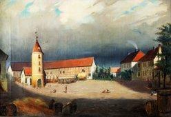 "Hermann Werner (1816-1905), Gemälde 1843 ""Der Junkerhof"", D1230"