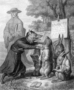 Julius Schnorr, Zeichnung, Reinecke Fuchs, Gesang 1, nach W. v. Kaulbach, D2104-1