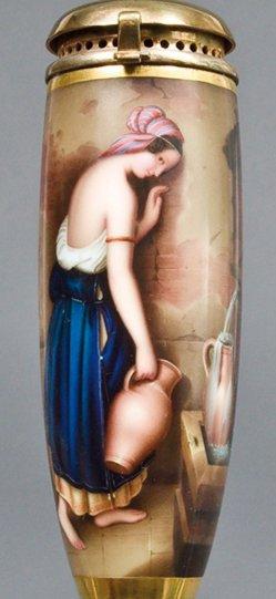 Eduard Steinbrück (1802-1882), Thisbe, Porzellanmalerei, Pfeifenkopf, B0125