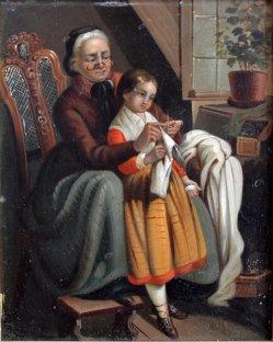 1759 Die Großmutter ohn Rahmen