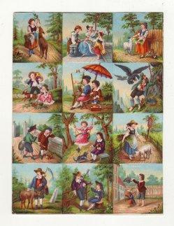 """Farblithographie, """"Komm Hans"""" nach H. Werner um 1847, D1809"""
