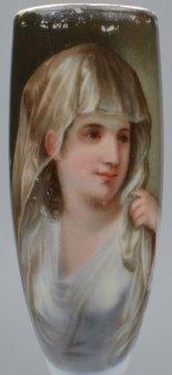 Angelika Kauffmann (1741-1807), Vestalin, Porzellanmalerei Pfeifenkopf, D1570.jpg