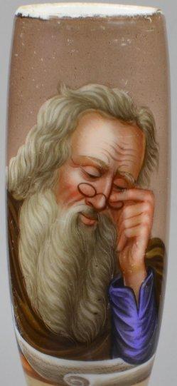 Uebe Weisheit u. Tugend, Porzellanmalerei, Pfeifenkopf, D1948