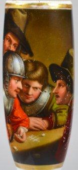Govert Flinck, Die Würfelspieler, Porzellanmalerei, Pfeifenkopf, D1950