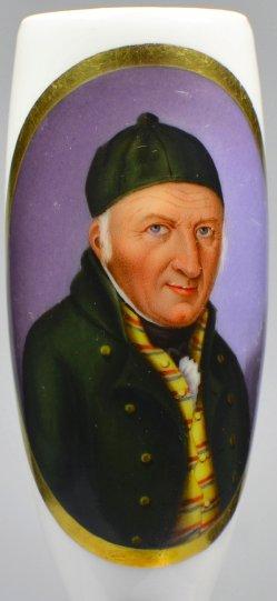 Halbportrait Johann Gottfried Schadow, Porzellanmalerei, Pfeifenkopf, D1957