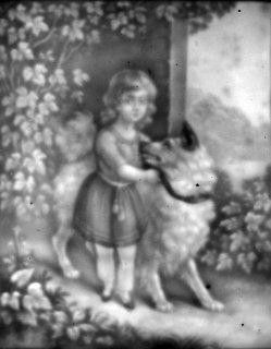 HPM 292 - Kind mit großem Hund an der Seite