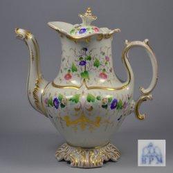 Buckauer Porzellanmanufaktur, Kaffeekanne um 1850, D0645-086-0