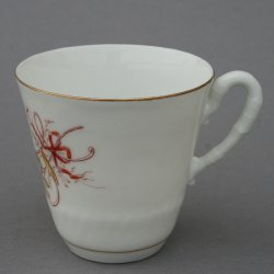 Buckauer Porzellanmanufaktur, Tasse und Untertasse 1882-1890, D0461-007-12