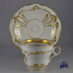 Buckauer Porzellanmanufaktur, Tasse und Untertasse um 1850, D0655-137-02