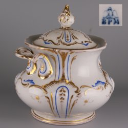 Buckauer Porzellanmanufaktur, Zuckerdose um 1850, D1130-290-36