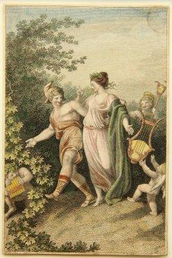 Carl August Schwerdgeburth (1785-1878), Kupferstich nach Johann Heinrich Ramberg (1763-1840), Hermes und Aphrodite, D2010