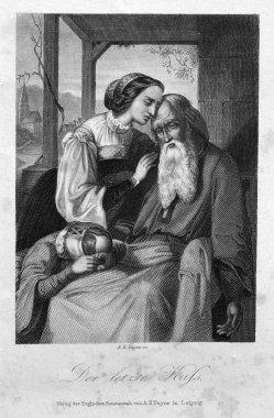 Albert Henry Payne (1812-1902), Der letzte Kuss, Stahlstich, D1302