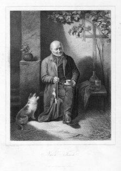 G. Pommer (*1815), Stahlstich, Nach Tisch, nach F. Friedlaender, D2023