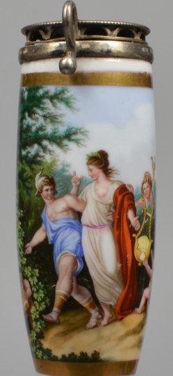Johann Heinrich Ramberg (1763-1840), Hermes und Aphrodite-0, Porzellanmalerei im Biedermeier, D2007